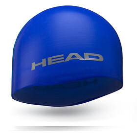 Head Silicone Moulded Bathing Cap blue